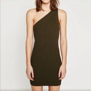 Zara 1-Shoulder Black Bodycon Dress M